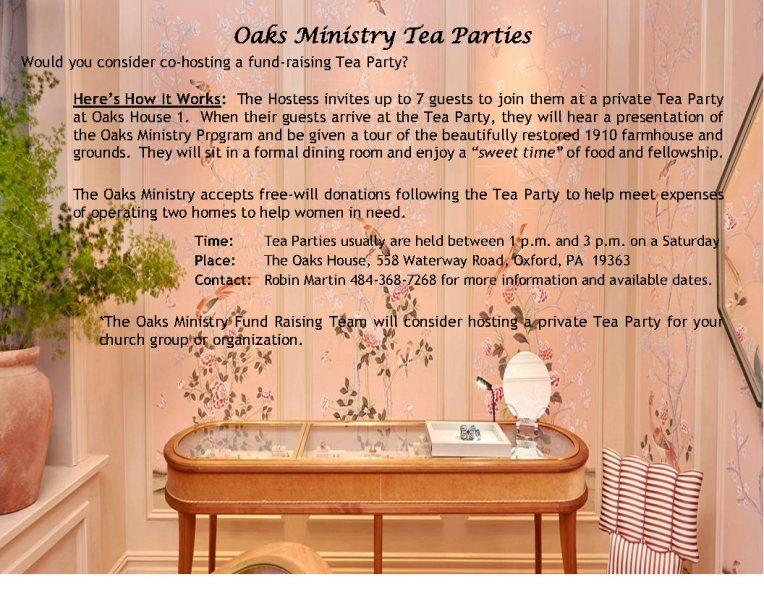 Oaks Ministry Tea Parties